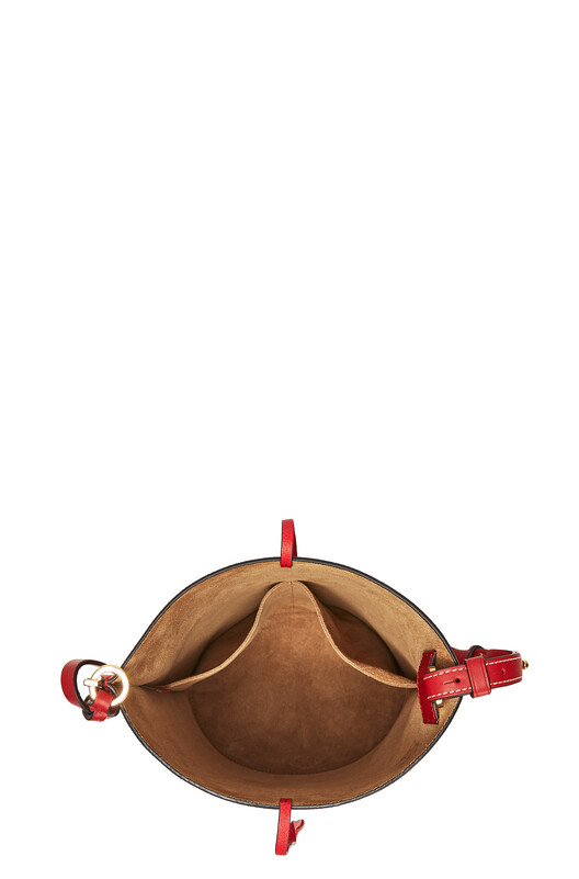 LOEWE Gate Bucket Bag Scarlet Red/Burnt Red front