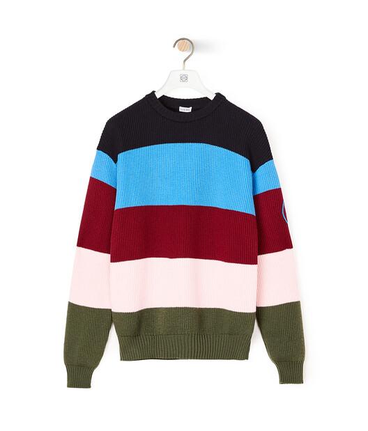 """LOEWE """"EYE""""自然条纹毛衣 Multicolor front"""