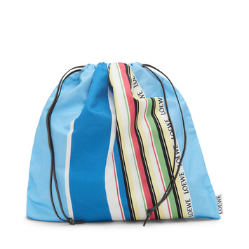 LOEWE Drawstring Pouch L Stripes Blue/Multicolor front