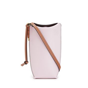 LOEWE Gate Pocket In Soft Calfskin Soft Pink/Coral front