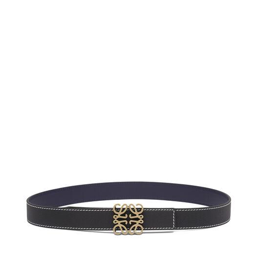 LOEWE Anagram Belt 3.2 Cm Black/Navy/Old Gold all