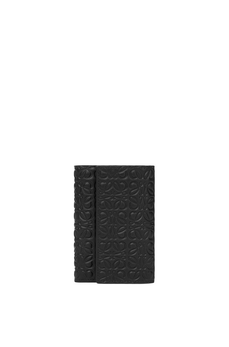 LOEWE Billetero pequeño vertical en ternera clásica Negro pdp_rd