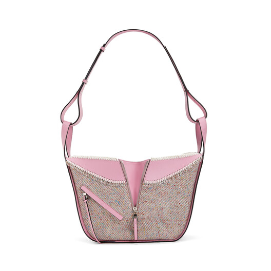 LOEWE Hammock Tweed Small Bag Cotton Candy  front