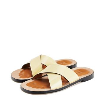 LOEWE 十字交叉凉鞋 Light Yellow front