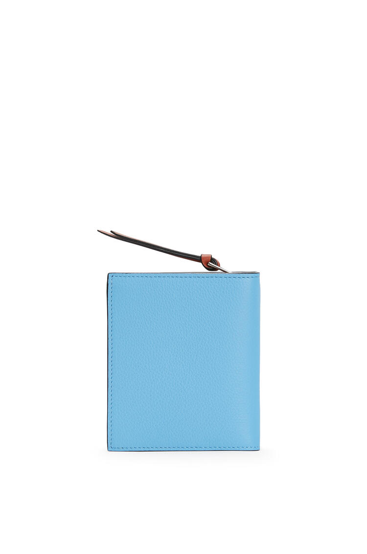 LOEWE Compact Zip Wallet In Soft Grained Calfskin Sky-blue/Black pdp_rd