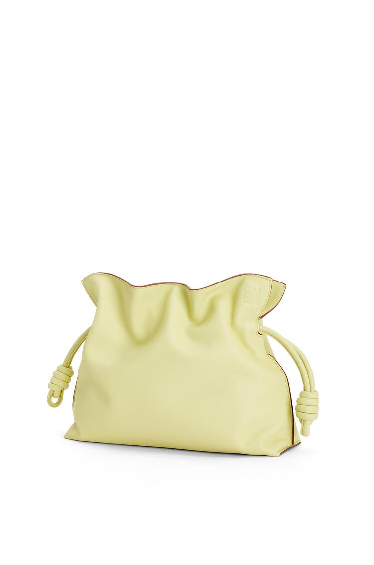 LOEWE Flamenco clutch in nappa calfskin Pale Lime pdp_rd