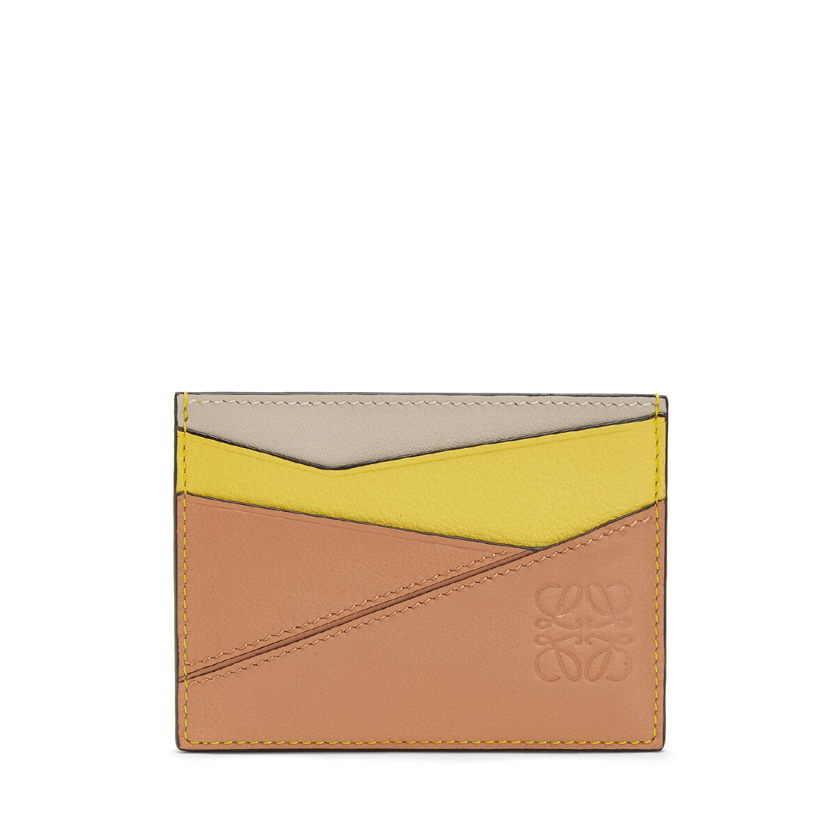 LOEWE Puzzle Plain Card Holder Yellow/Powder all