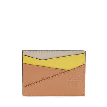 LOEWE Puzzle Plain Card Holder Yellow/Powder front