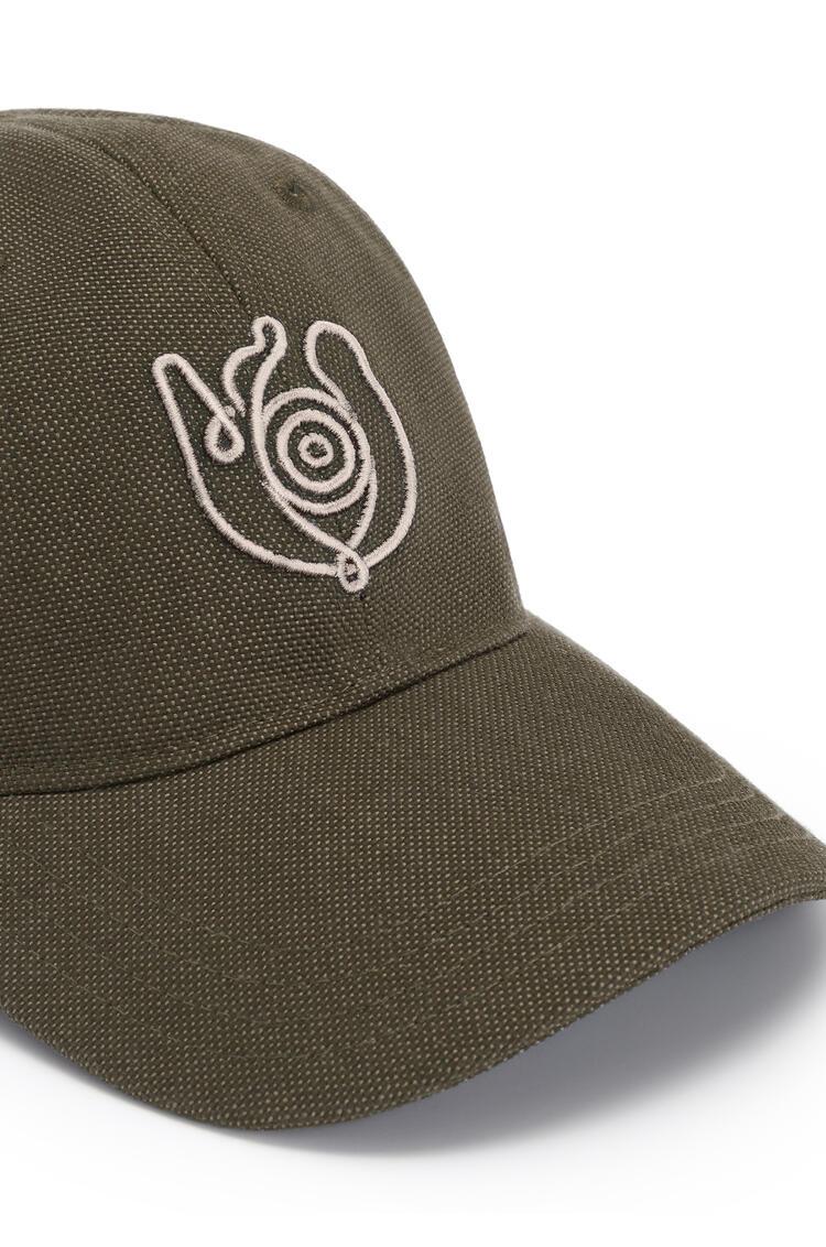 LOEWE Cap in canvas Khaki Green pdp_rd