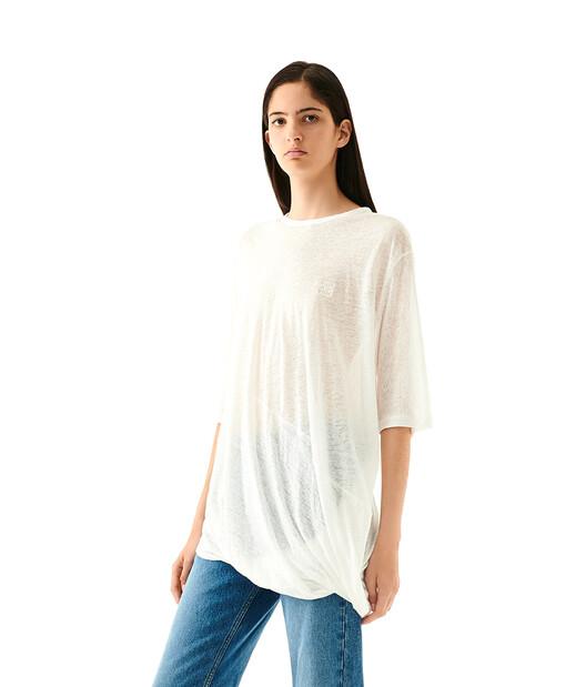LOEWE Asymmetric T-Shirt White front