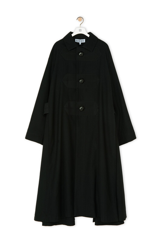 LOEWE Oversize Button Coat 黑色 front