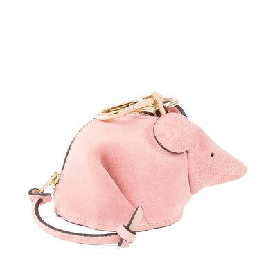 LOEWE マウス チャーム ピンク front