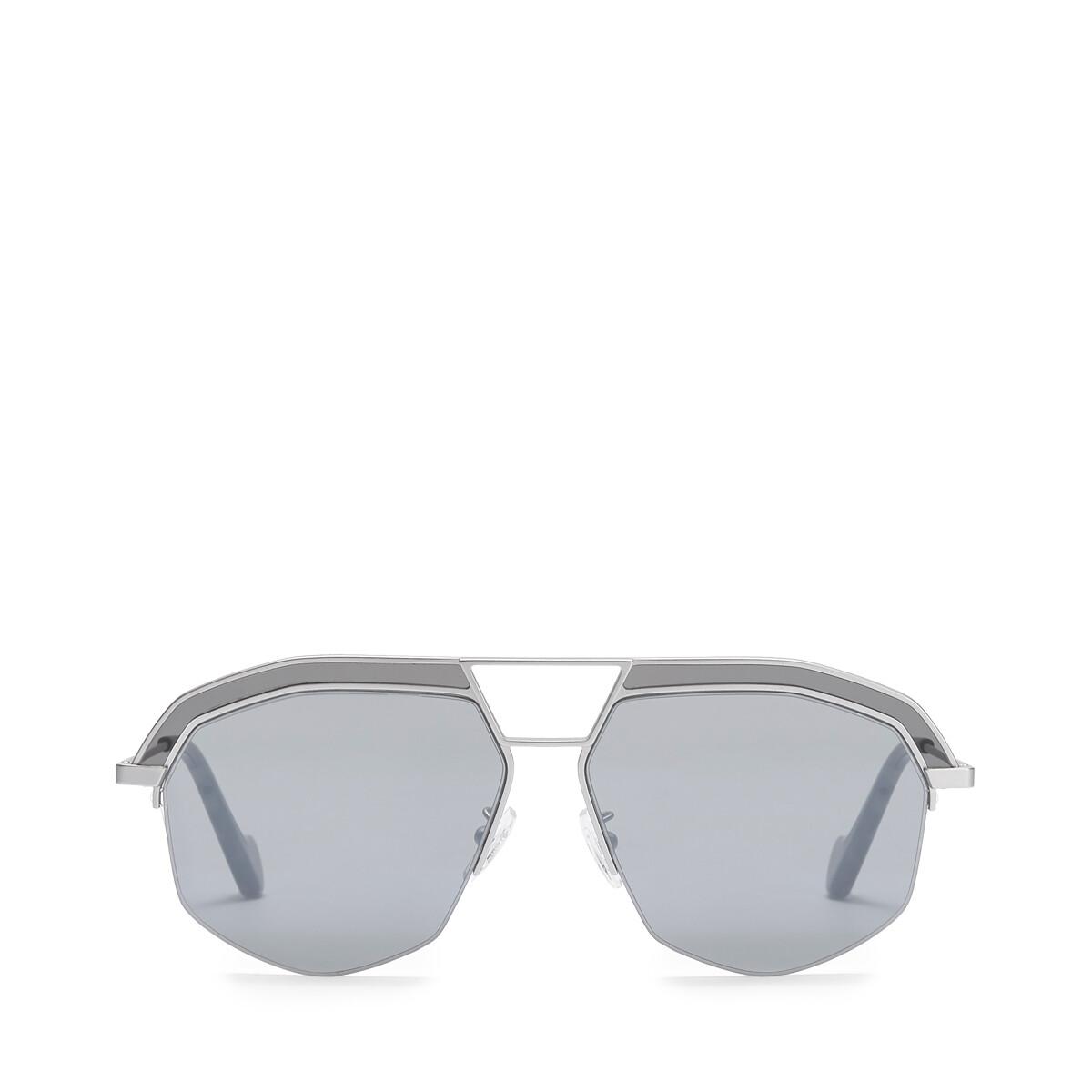 LOEWE Geometrical Sunglasses Mate Rhodium/Grey front