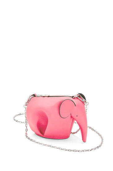 LOEWE Elephant pouch in classic calfskin Coral pdp_rd