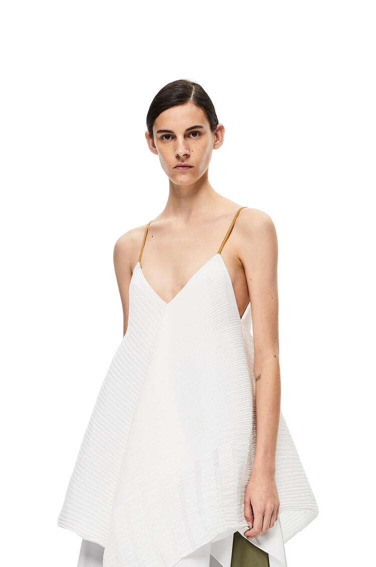 LOEWE Tank pleated top in polyester White pdp_rd
