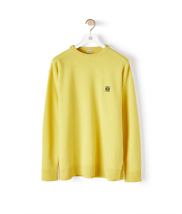 LOEWE Anagram Sweater Yellow front