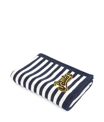 LOEWE 105X170 Paula Stripe Towel White/Navy Blue front