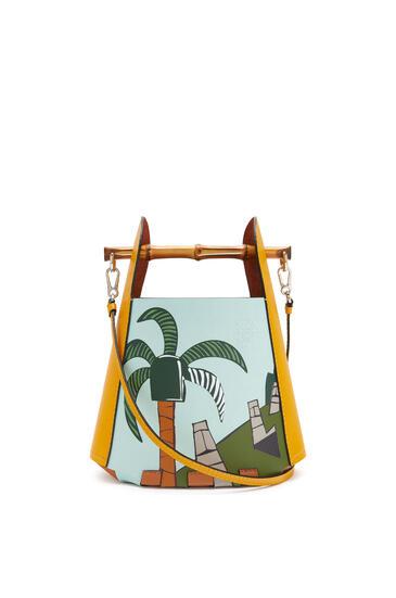 LOEWE 复活节岛牛皮革 Bamboo Bucket 手袋 Yellow Mango/Multicolor pdp_rd
