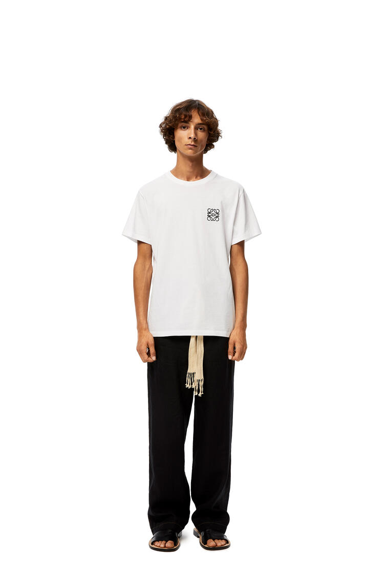 LOEWE Anagram Embroidered T-shirt In Cotton White pdp_rd