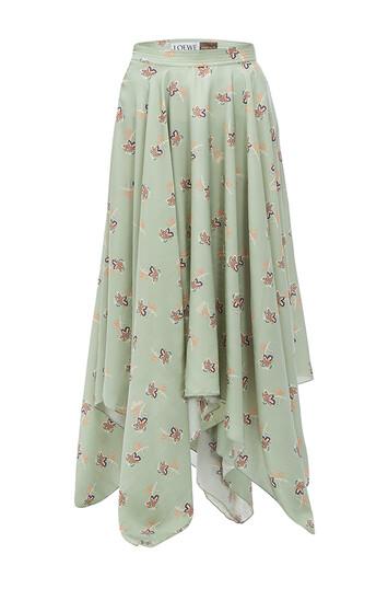 LOEWE Paula Print Skirt Verde Claro front
