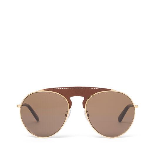 LOEWE Pilot Sunglasses Brown/Roviex front