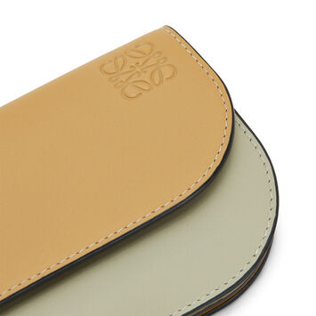 LOEWE Gate Continental Wallet Gold/Light Olive front