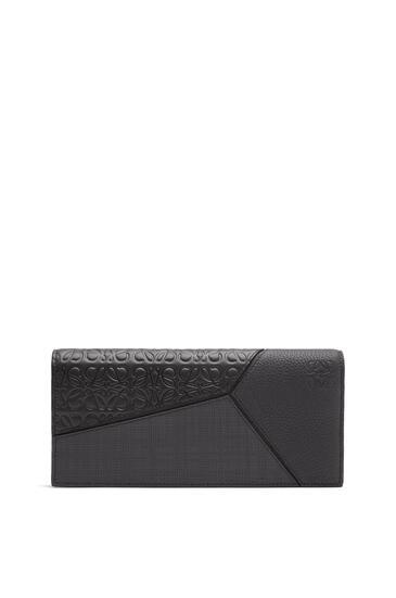 LOEWE Puzzle long horizontal wallet in calfskin Black pdp_rd