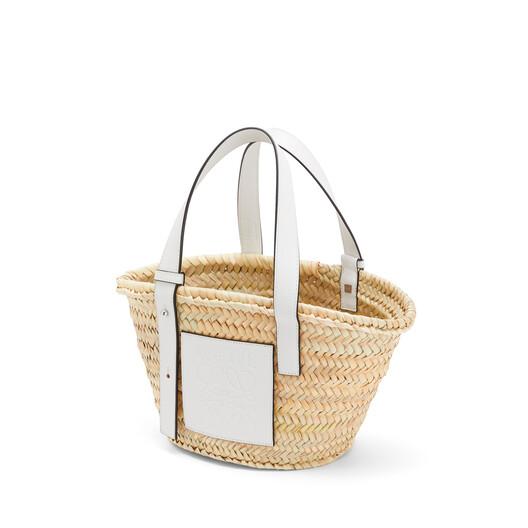 LOEWE バスケット スモール バッグ ナチュラル/ホワイト front