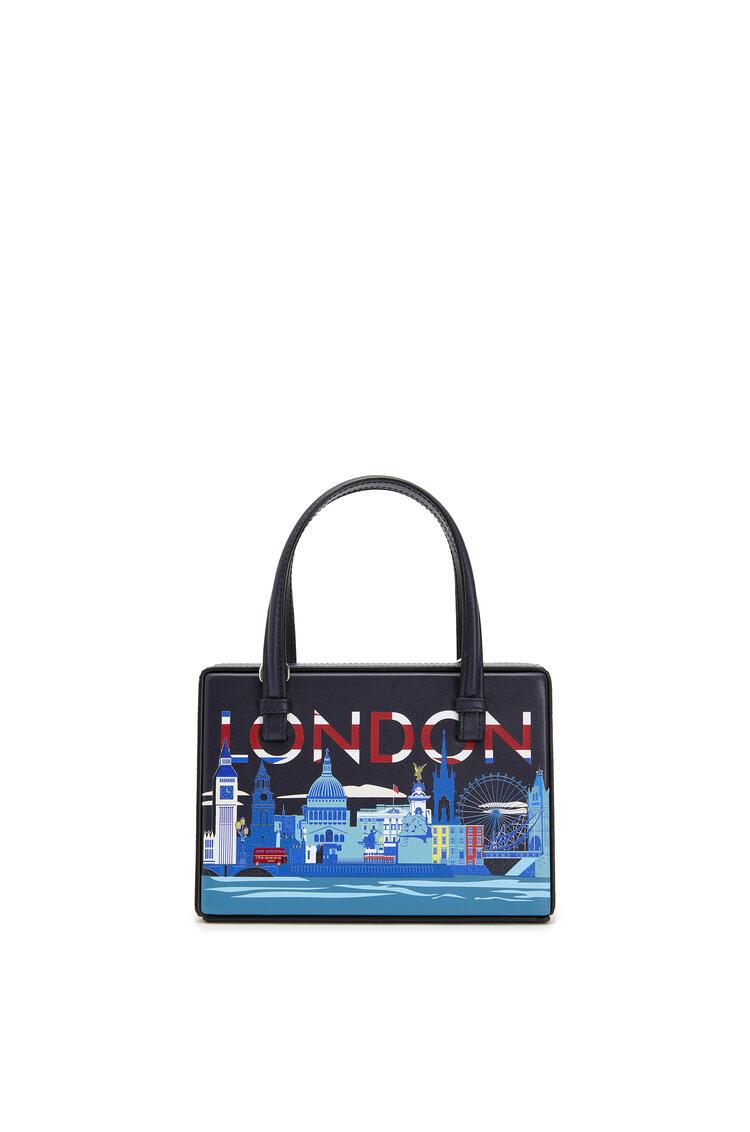 LOEWE Small London Postal Bag In Natural Calfskin Midnight Blue pdp_rd