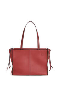 LOEWE Small Cushion Tote bag in soft grained calfskin Garnet pdp_rd