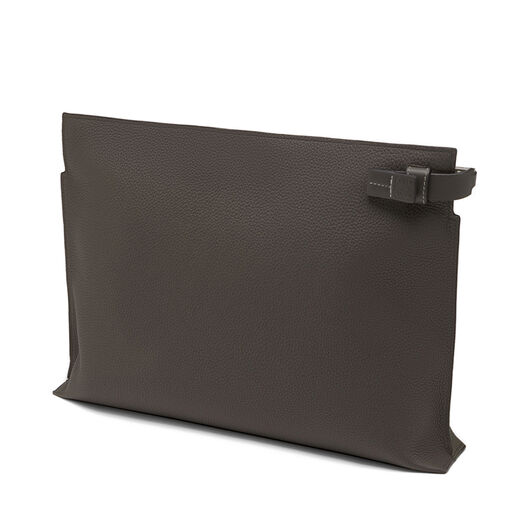 LOEWE T Pouch Bicolor Khaki Green/Dark Grey all