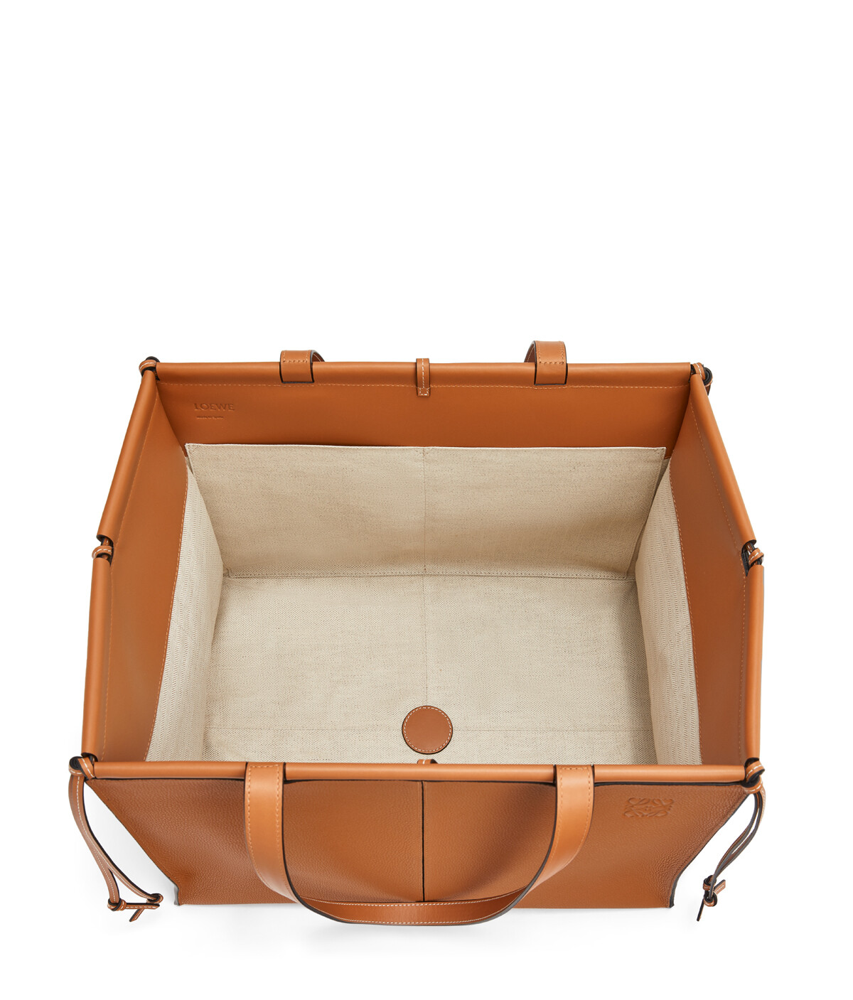 LOEWE Cushion Tote Large Light Caramel front