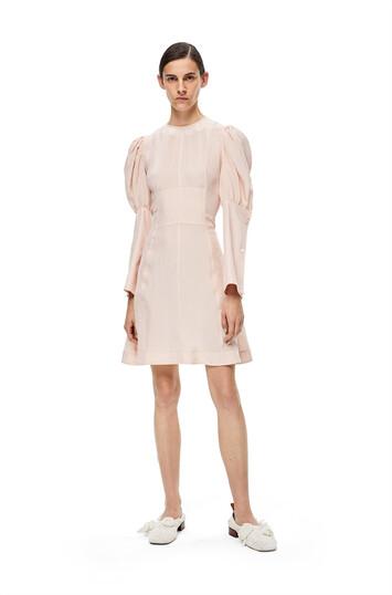 LOEWE 气球袖连衣裙 粉色 front