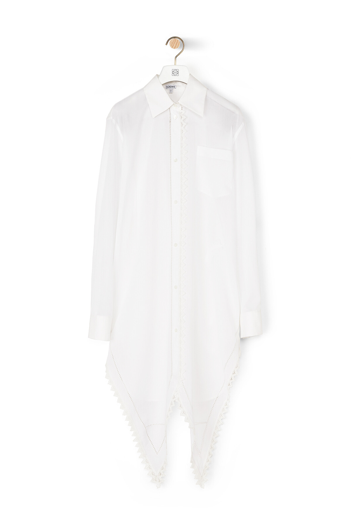 LOEWE Lace Petal Shirt Pearls White front