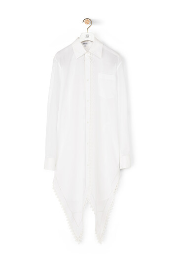 LOEWE Lace Petal Shirt Pearls White front