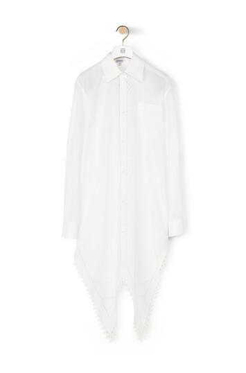 LOEWE Lace Petal Shirt Pearls 白色 front