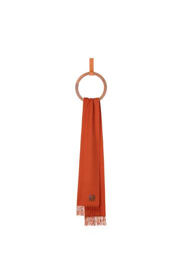 LOEWE 35 x 170 cm LOEWE anagram scarf in cashmere Orange pdp_rd