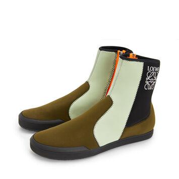 LOEWE Paula Scuba Boot Khaki Green Multitone front