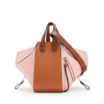 LOEWE Hammock Small Bag Tan/Medium Pink front