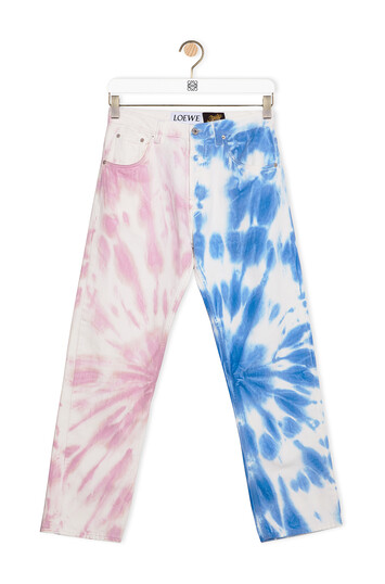 LOEWE Jeans In Tie Dye Cotton 藍色/粉紅 front