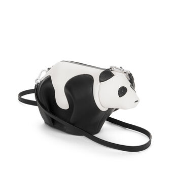 LOEWE Panda Mini Bag Black/White front