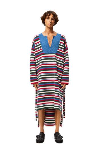 LOEWE Stripe Knit Tunic 深藍色/銹紅色 front