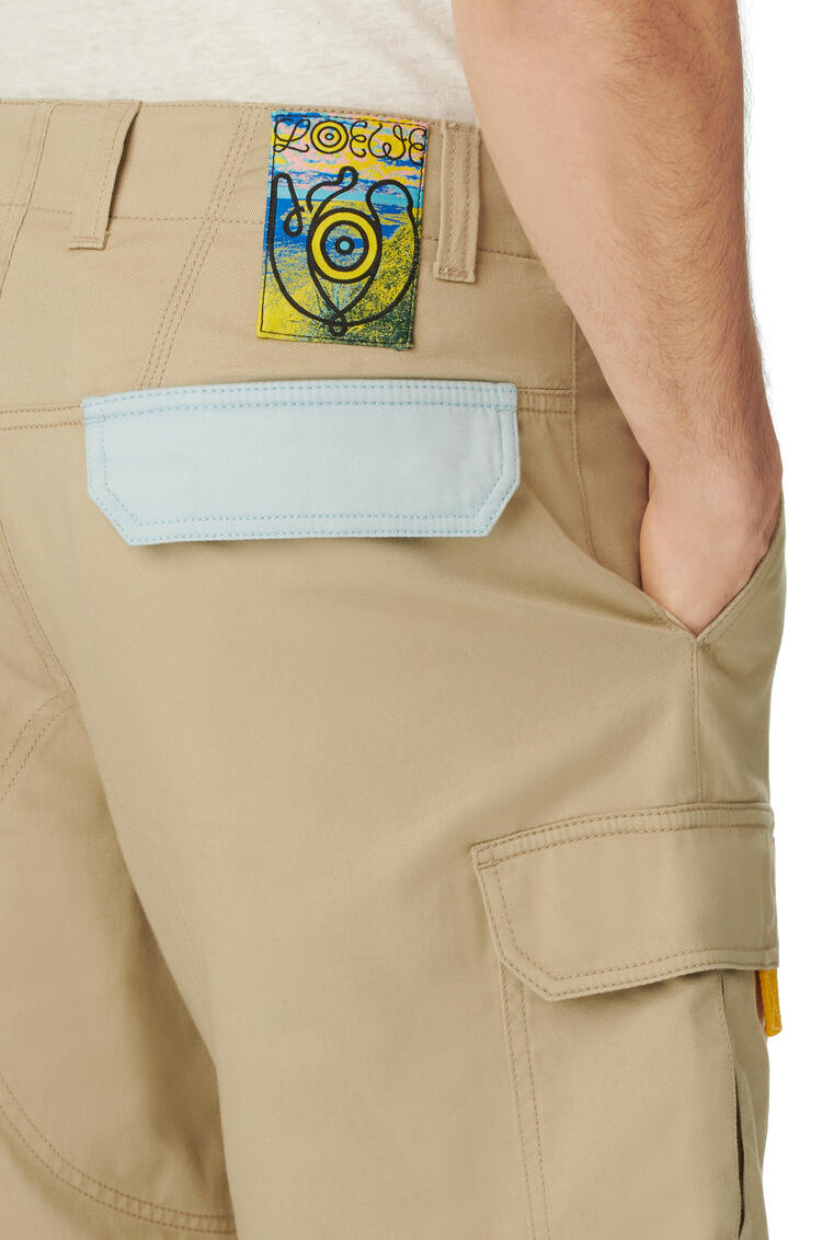 LOEWE Cargo shorts in cotton Beige pdp_rd