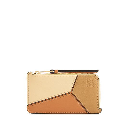 LOEWE Puzzle Coin Cardholder Dune/Vanilla front