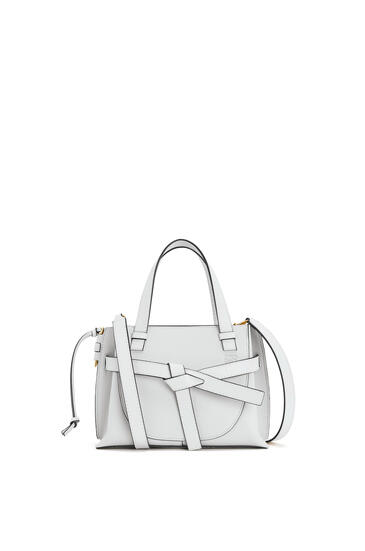 LOEWE Mini Gate Top Handle bag in soft grained calfskin Kaolin pdp_rd