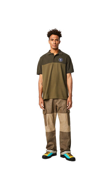 LOEWE Polo in cotton Khaki Green pdp_rd