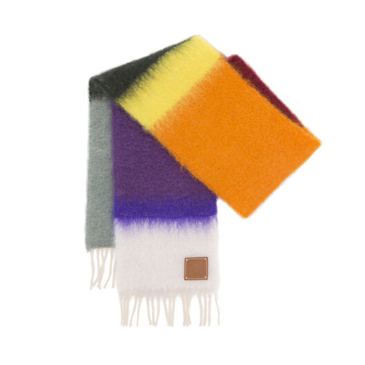 LOEWE 23X185 Scarf Stripes Multicolor/White front