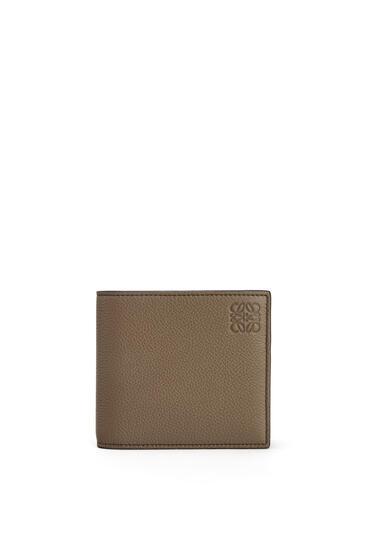 LOEWE Bifold coin wallet in soft grained calfskin Dark Moss pdp_rd
