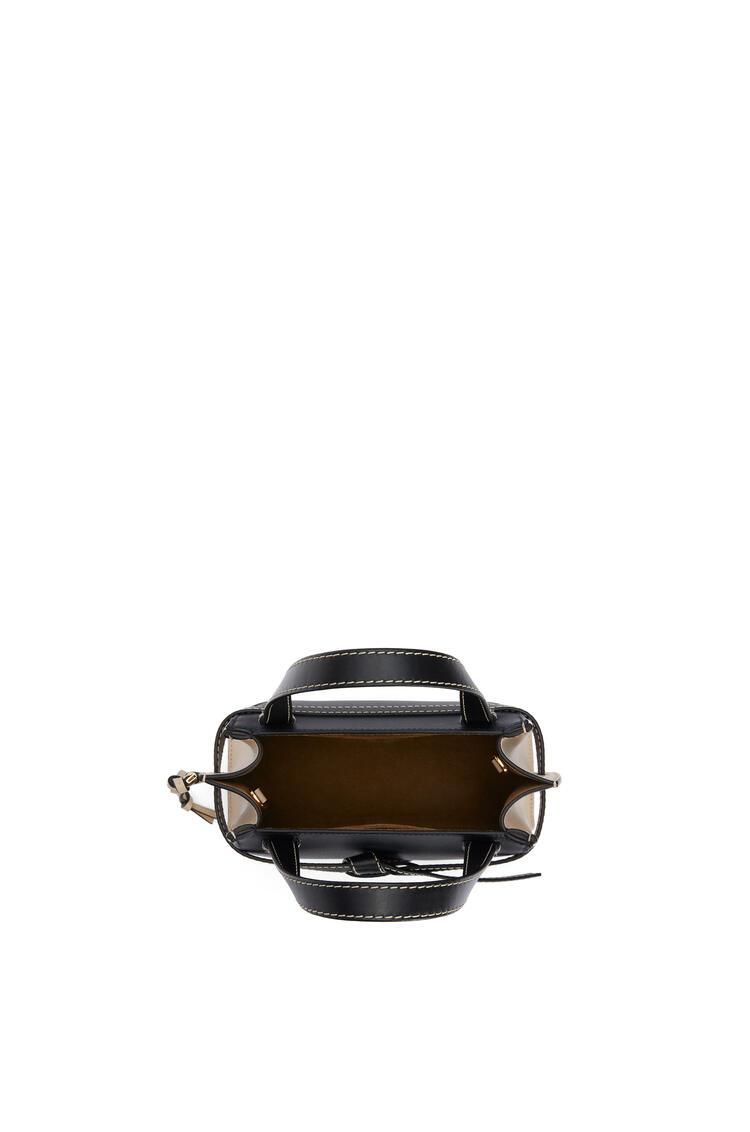 LOEWE Minibolso Gate Top Handle en piel de ternera suave Azul Medianoche/Avena Claro pdp_rd