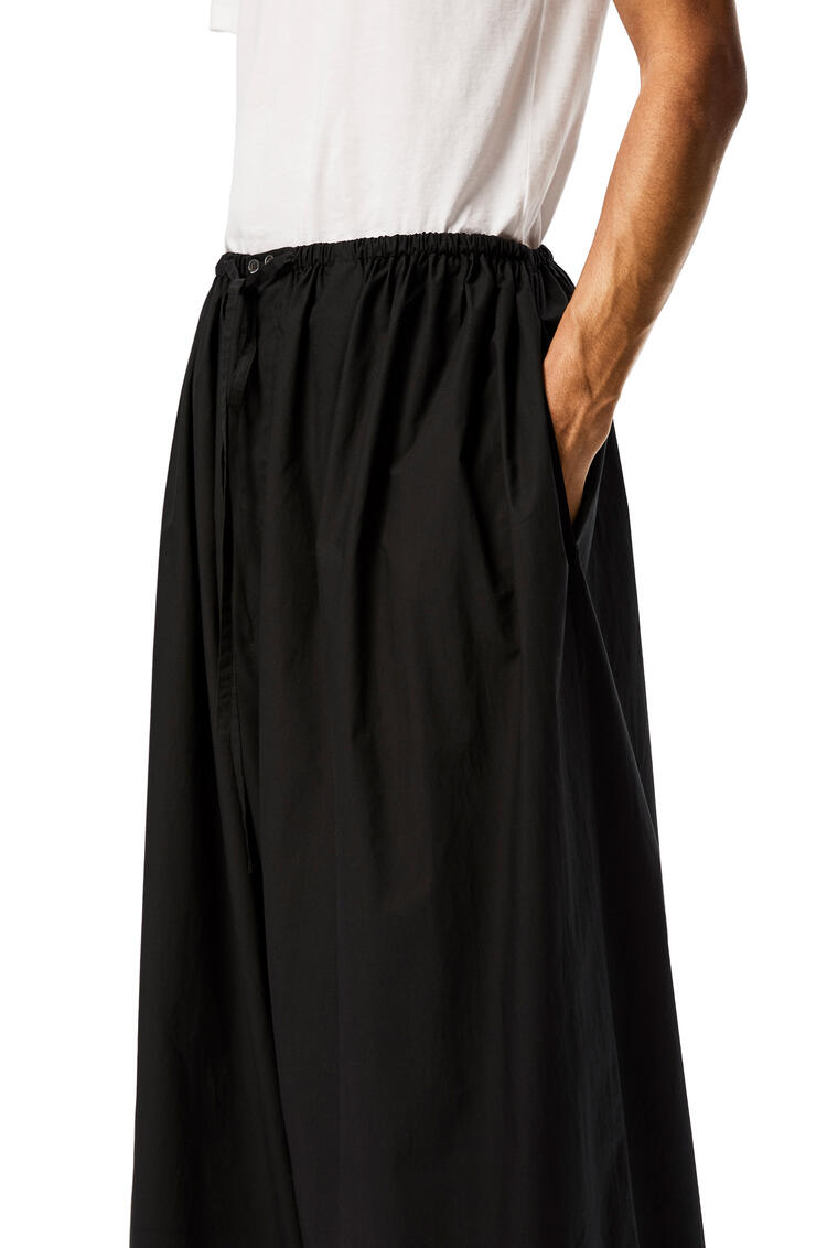 LOEWE Oversize drawstring trousers in cotton Black pdp_rd